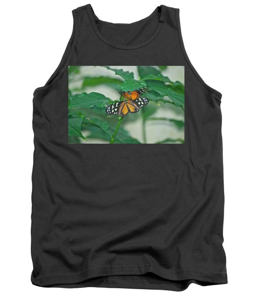 Tank Top featuring the photograph Butterflies Gentle Touch by Thomas Woolworth