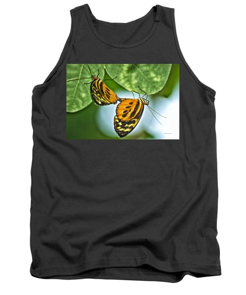 Tank Top featuring the photograph Butterflies Mating by Thomas Woolworth