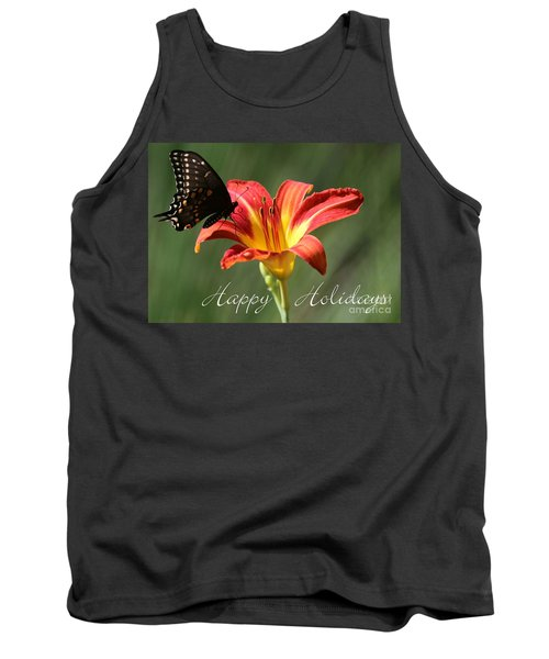 Butterfly And Lily Holiday Card Tank Top