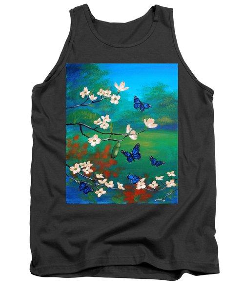 Butterfly Blue Tank Top