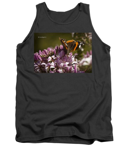 Tank Top featuring the photograph Butterfly Close Up by Stwayne Keubrick