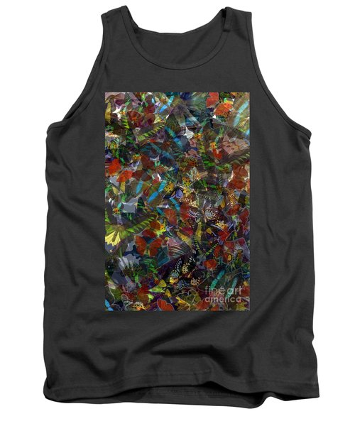 Tank Top featuring the photograph Butterfly Collage by Robert Meanor