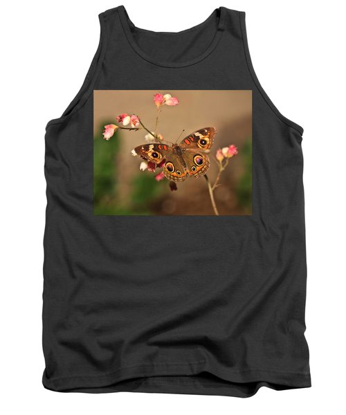 Butterfly On Pink Tank Top