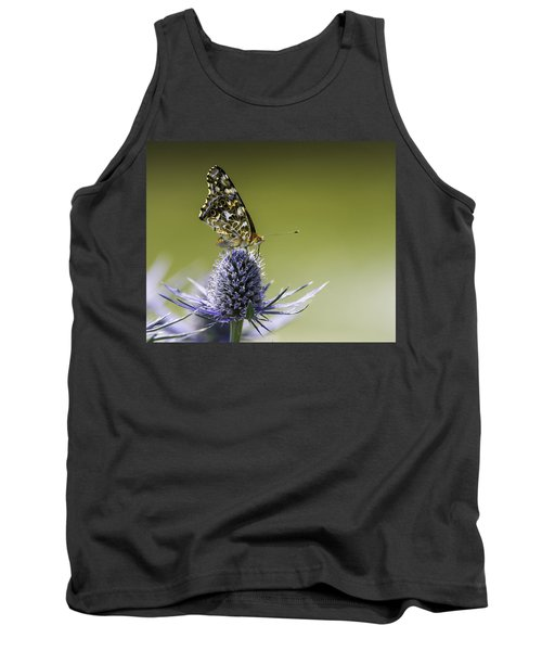Butterfly On Thistle Tank Top