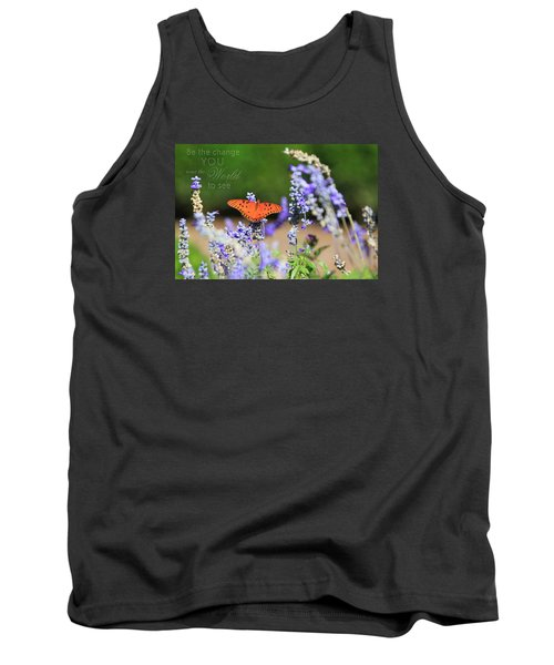 Butterfly With Message Tank Top