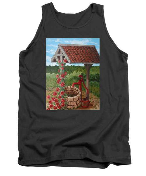 Tank Top featuring the painting By The Water Pump by Katherine Young-Beck