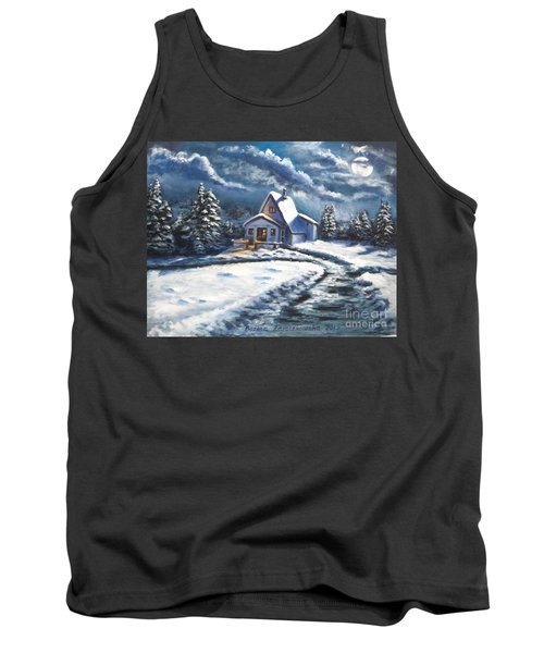Cabin At Night Tank Top