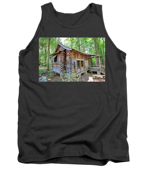 Tank Top featuring the photograph Cabin In The Woods by Gordon Elwell