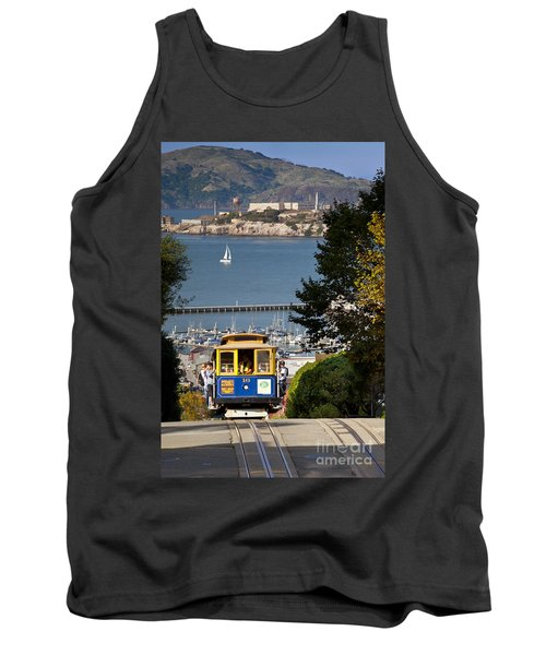 Cable Car In San Francisco Tank Top by Brian Jannsen