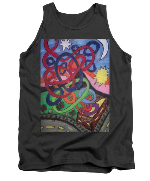 Tank Top featuring the drawing California by Jonathon Hansen