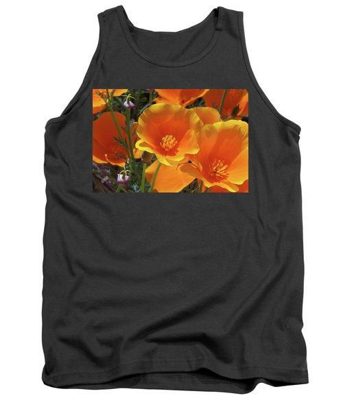 California Poppies Tank Top by Ben and Raisa Gertsberg