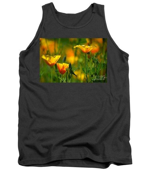 California Poppies Tank Top by Deb Halloran