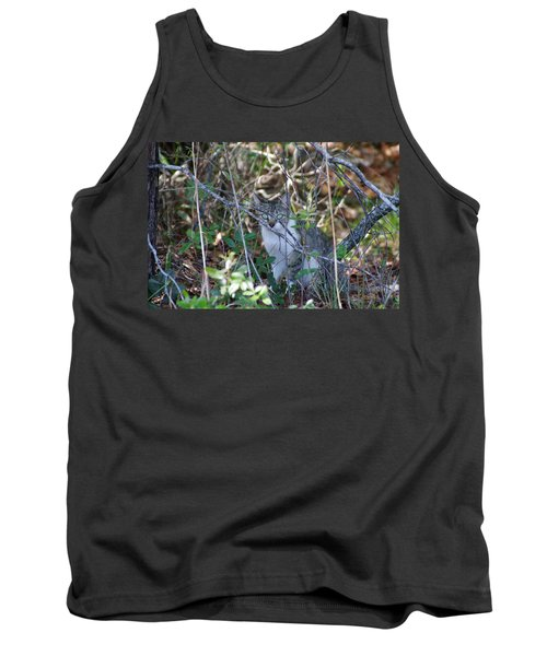 Camouflage Cat Tank Top by Greg Graham