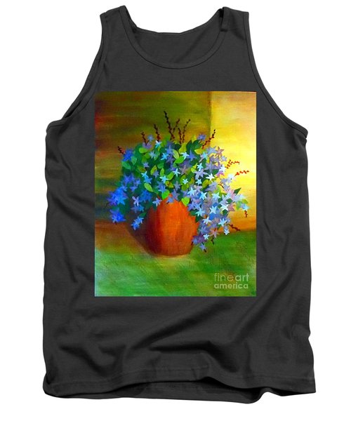 Campanula In Terra Cotta Tank Top