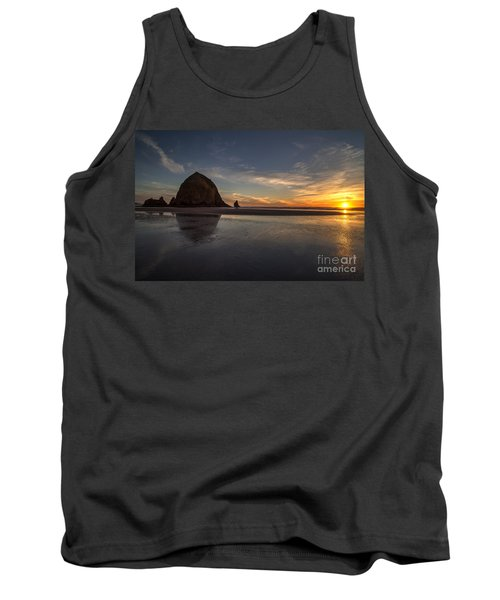 Cannon Beach Dusk Conclusion Tank Top by Mike Reid