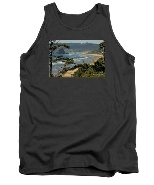 Tank Top featuring the photograph Cannon Beach Seascape by Nick  Boren