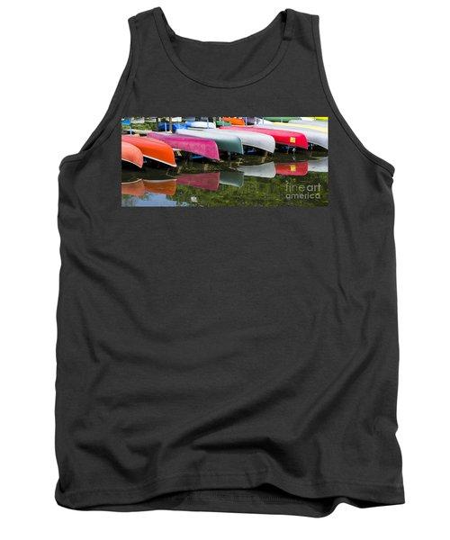 canoes - Lake Wingra - Madison  Tank Top