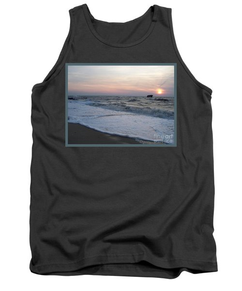 Cape May Sunset Beach Nj Tank Top by Eric  Schiabor