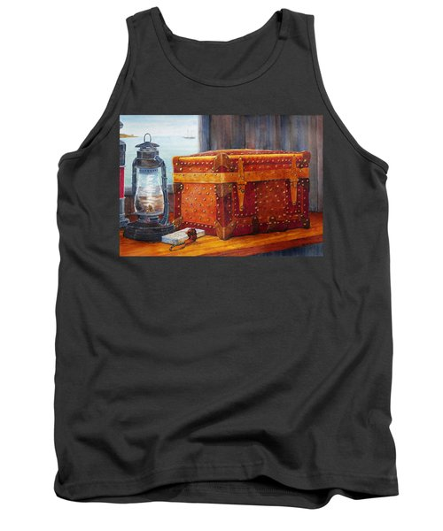 Tank Top featuring the painting Capt. Murray's Chest by Roger Rockefeller