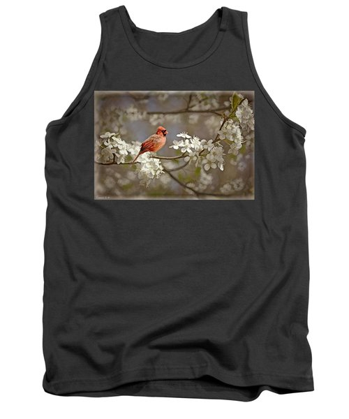 Cardinal And Blossoms Tank Top