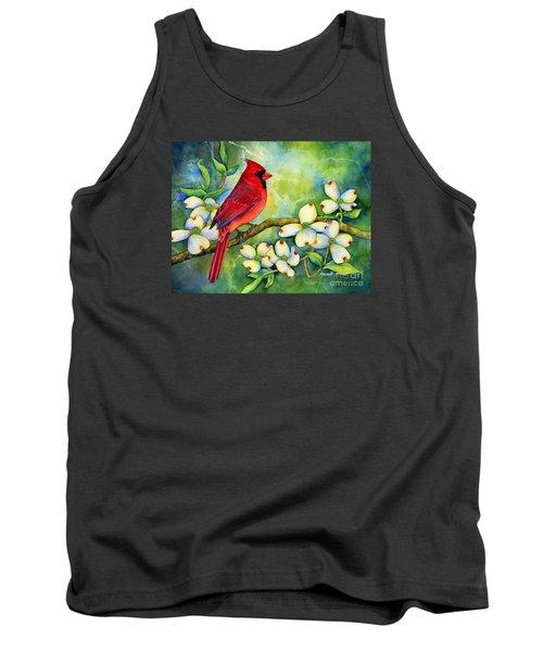Cardinal On Dogwood Tank Top