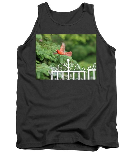 Tank Top featuring the photograph Cardinal Time To Soar by Thomas Woolworth