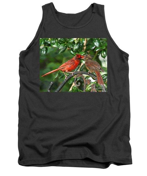 Cardinal Bird Valentines Love  Tank Top