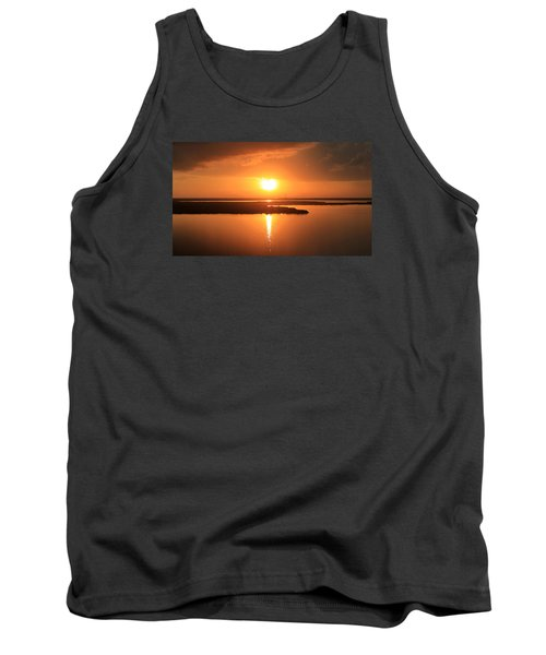 Tank Top featuring the photograph Caribbean Sunset by Milena Ilieva