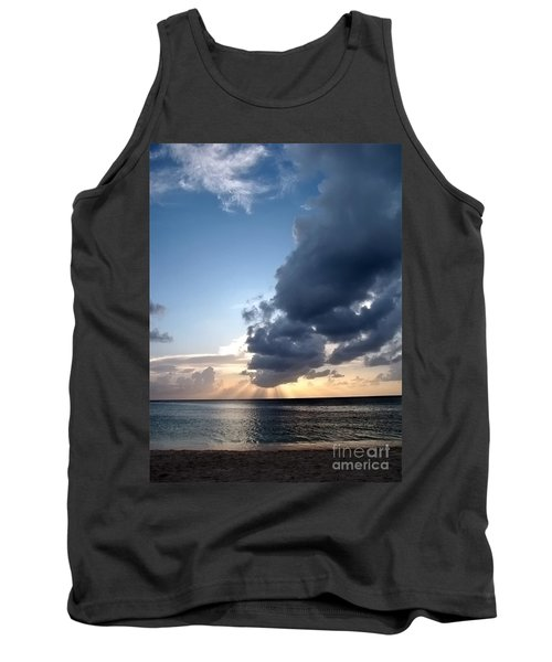Caribbean Sunset Tank Top by Peggy Hughes