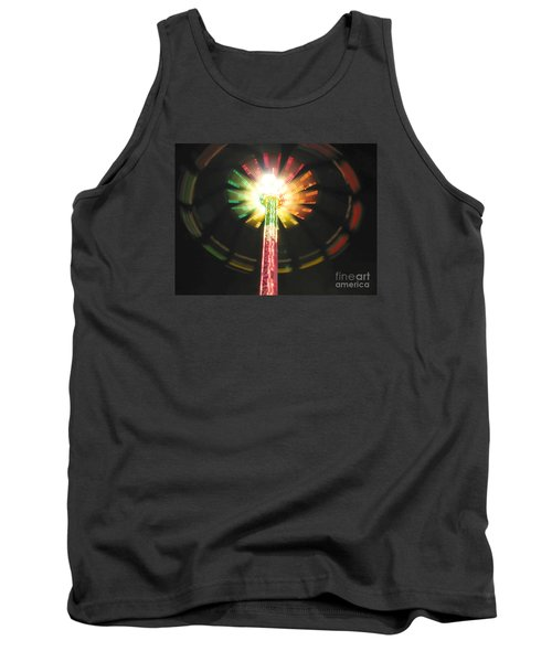 Carnival Ride At Night Tank Top by Connie Fox