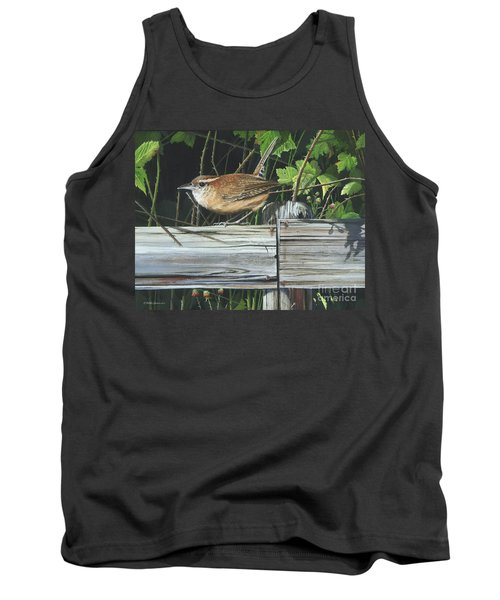 Tank Top featuring the painting Carolina Wren by Mike Brown