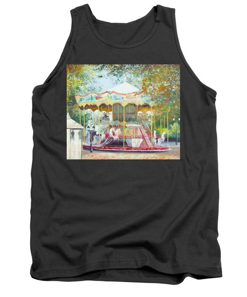 Carousel In Montmartre Paris Tank Top