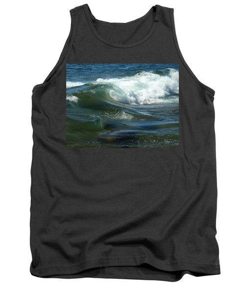 Tank Top featuring the photograph Cascade Wave by James Peterson