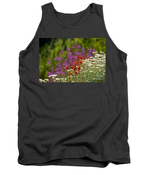 Cascade Wildflowers Tank Top by Sean Griffin