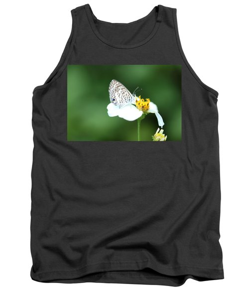 Tank Top featuring the photograph Cassius Blue On Wildflower by Greg Allore
