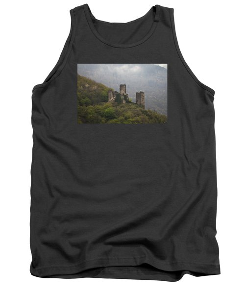Castle In The Mountains. Tank Top by Clare Bambers