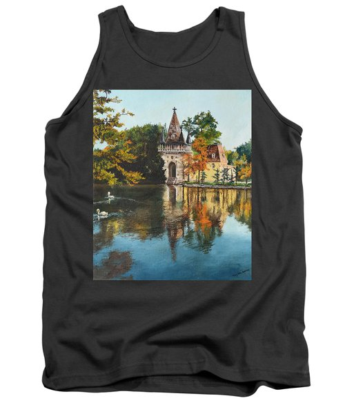 Tank Top featuring the painting Castle On The Water by Mary Ellen Anderson