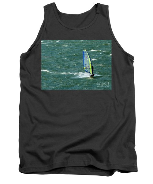 Catching Wind And Surf Tank Top by Susan Garren