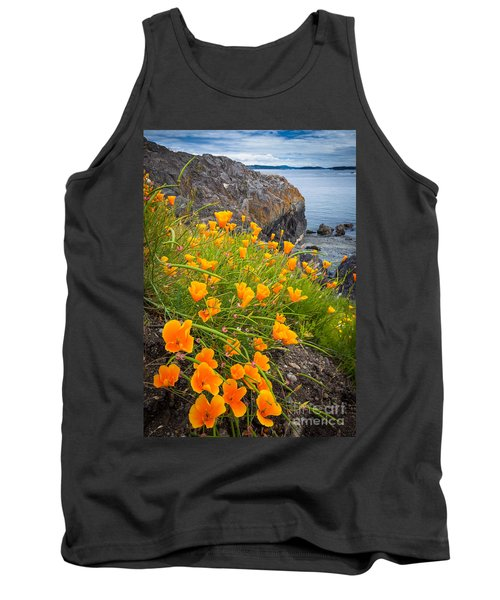 Cattle Point Poppies Tank Top