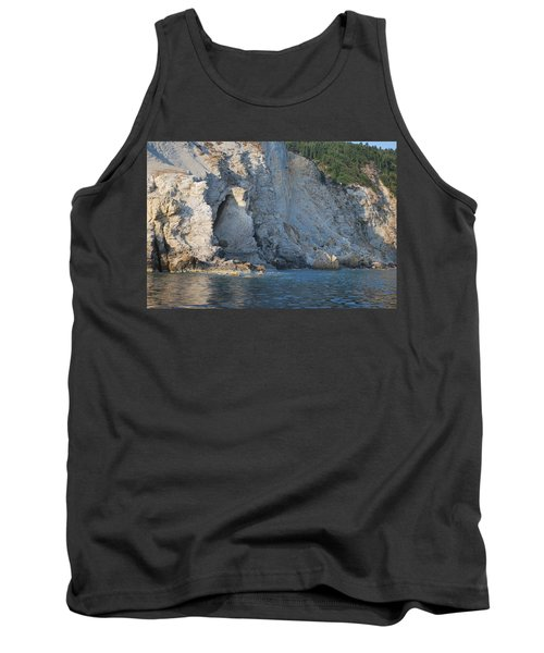 Tank Top featuring the photograph Cave By The Sea by George Katechis