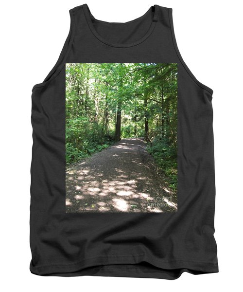 Tank Top featuring the photograph Cedar Shadow Steps by Kim Prowse