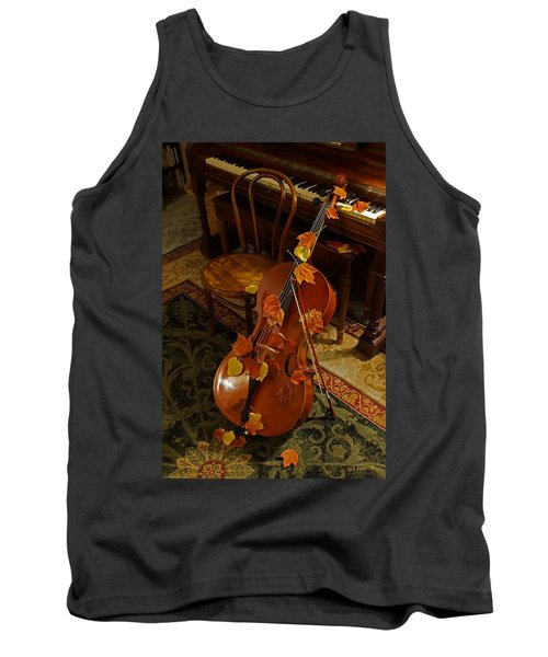 Cello Autumn 1 Tank Top by Mick Anderson