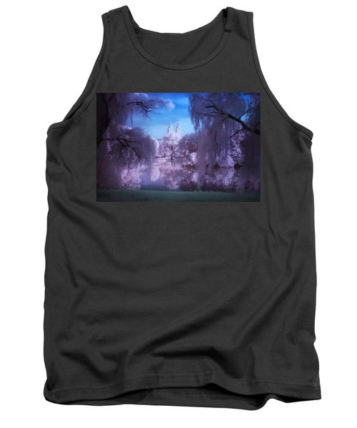 Central Park Lake Willows Color Tank Top