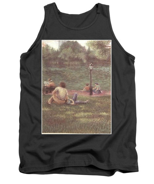 Tank Top featuring the painting Central Park Nyc by Walter Casaravilla