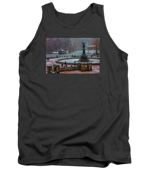 Central Park Snow Storm Tank Top by Chris Lord