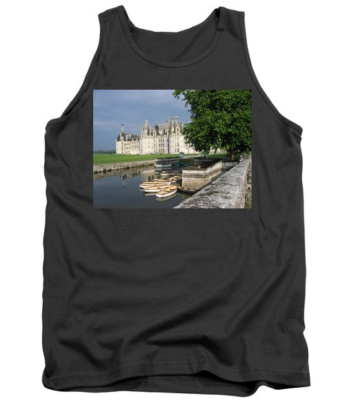 Tank Top featuring the photograph Chateau Chambord Boating by HEVi FineArt