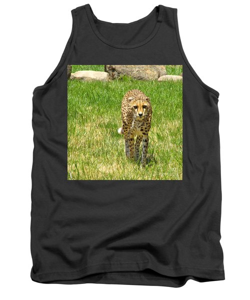Tank Top featuring the photograph Cheetah Approaching by CML Brown