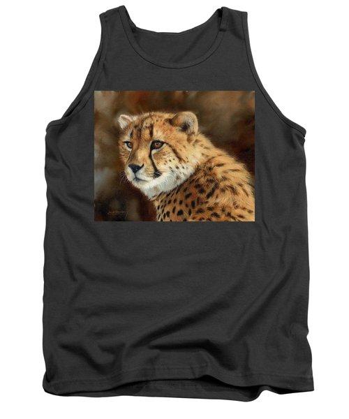 Cheetah Tank Top by David Stribbling