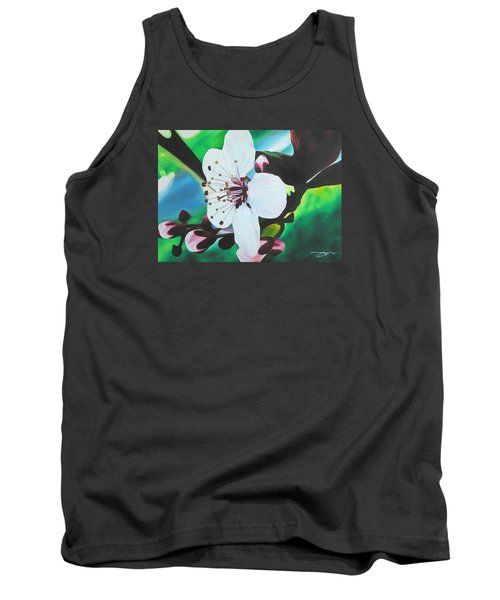 Tank Top featuring the painting Cherry Blosom by Joshua Morton