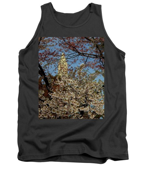 Cherry Blossoms And The Monument Tank Top